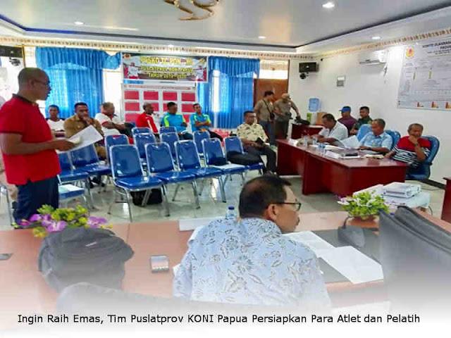 Ingin Raih Emas, Tim Puslatprov KONI Papua Persiapkan Para Atlet dan Pelatih