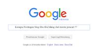 Kenapa Postingan blog tiba tiba hilang dari mesin pencari ??