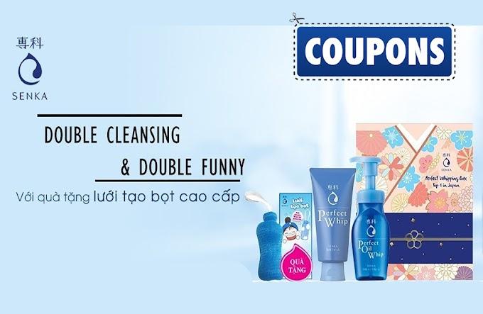 Trinhz tặng bạn Coupon giảm 8% khi mua bộ quà làm sạch da từ Senka