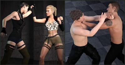Z Fighting Series: Krav Maga - Combat Poses for Genesis 3 and 8