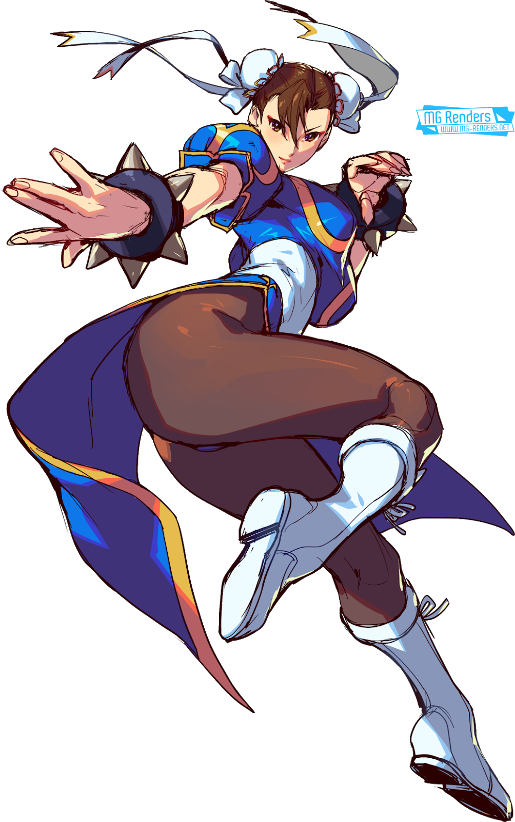 Tags: Render, Ass, Brown hair, Chinese clothes, Chun-Li, Dress, Full body, Hair bun, Huge Breasts, Large Breasts, Pantyhose, Street Fighter