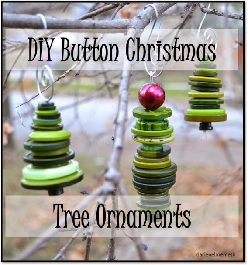 Button Christmas Trees: Let It Shine: Adorable Christmas Tree Ornaments