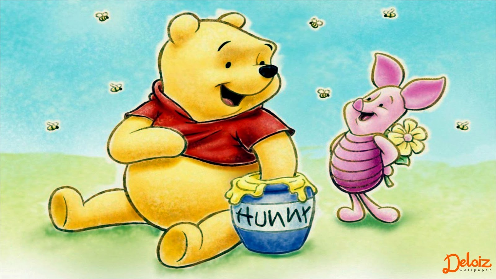 Wallpaper Atau DP BBM Winnie The Pooh HD Khusus Android 2015