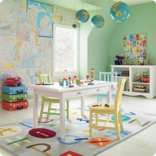 haritalı dekorasyon