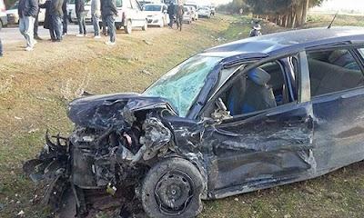 المرناقية : حادث مرور يُسفر عن قتيل و9 جرحى في اصطدام بين سيارة لنقل عاملات وسيارة خفيفة