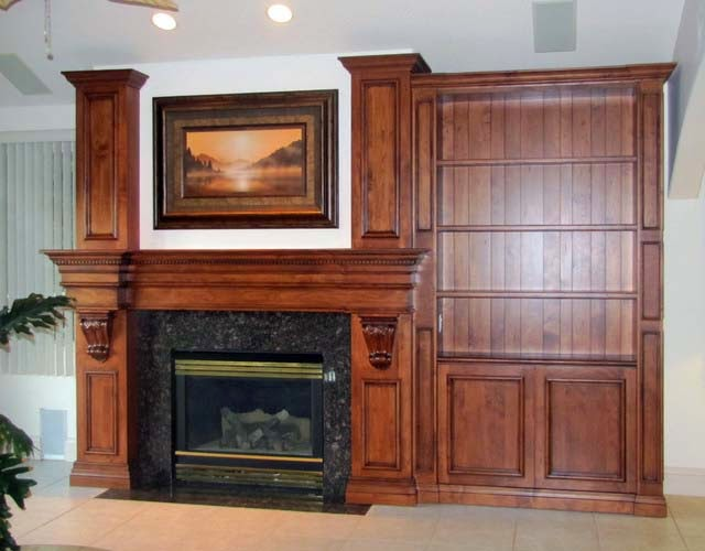 Fireplace Mantel and Bookcase Designs picture