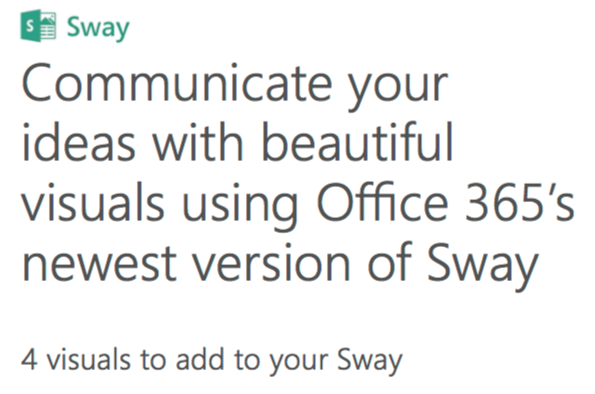 Mouse Training London Ltd: Office 365 - Sway - Communicate your
