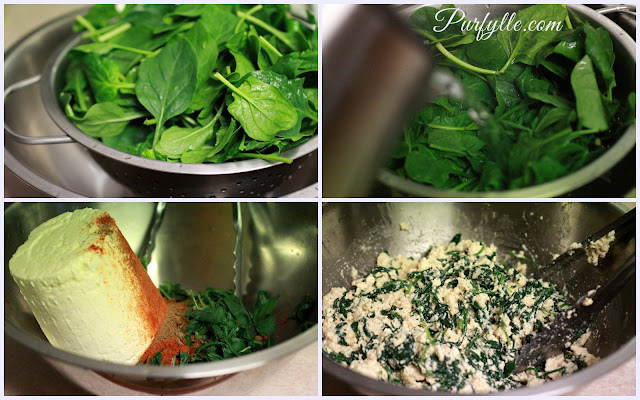 baby spinach and ricotta
