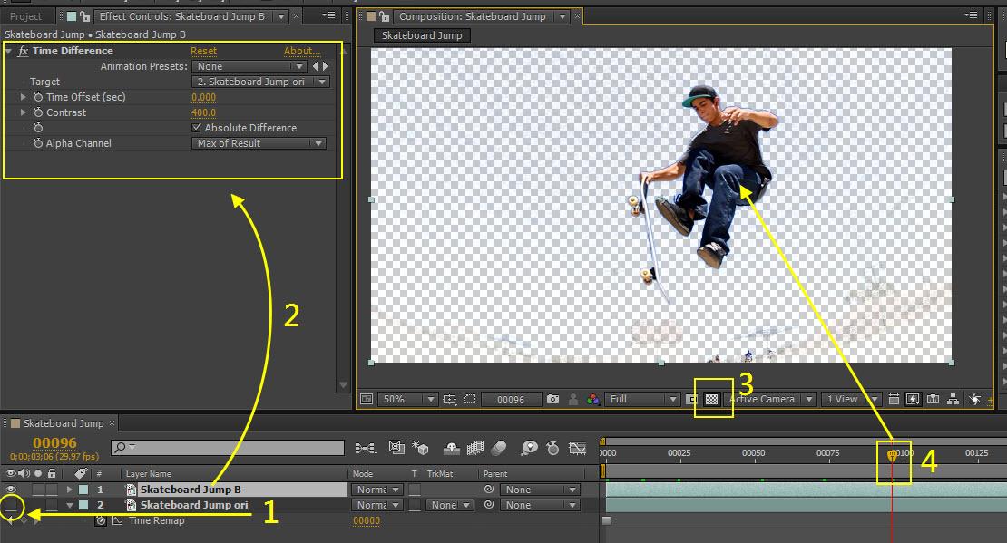 Skateboard Jump 05