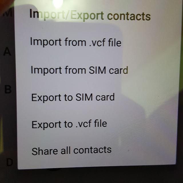 Cara Backup Kontak di Android One Xiaomi A1