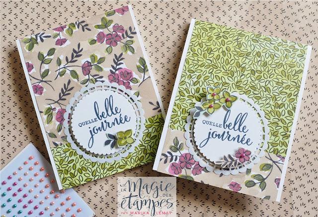 cartes avec le lot partagez ce que vous aimez Stampin' Up!
