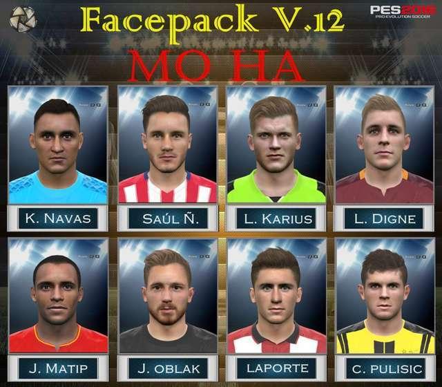 PES 2016 New Facepack V12