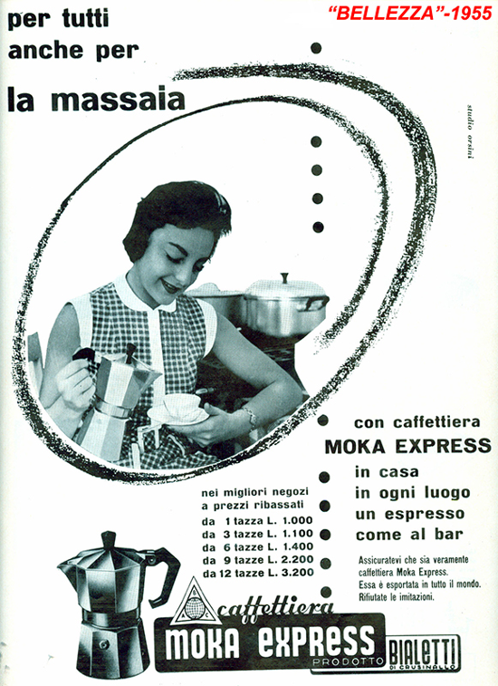 Bialetti advertising 1955 - Bellezza