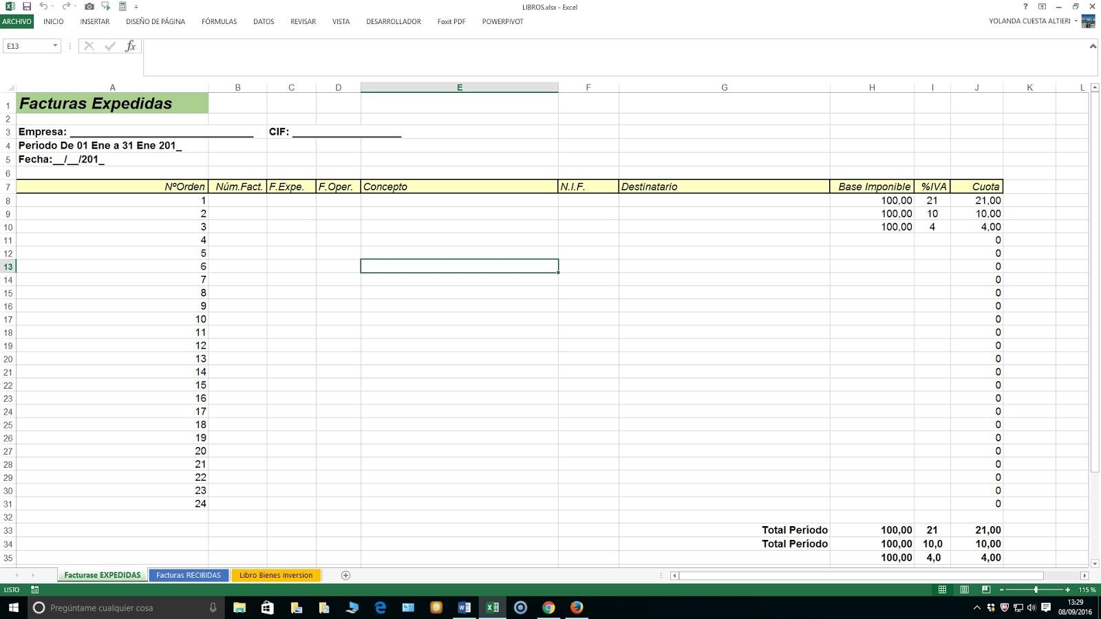 Plantilla Excel libros Autónomos | Hojas Excel fácil:
