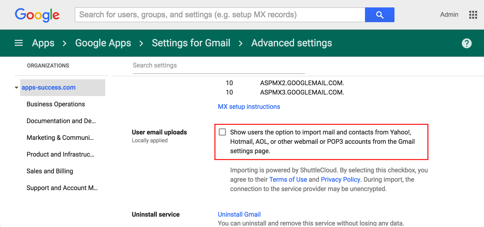 G Suite Updates Blog: User-initiated mail and contacts