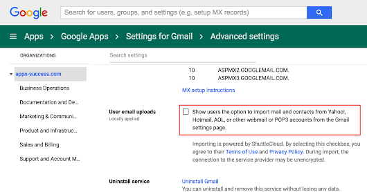 User-initiated mail and contacts import from Gmail and Rediffmail accounts now supported