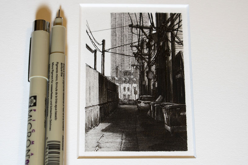 cccad303b1 Small pen and ink drawings of alleyways, cityscapes, parked cars, and  interstates by Grand Rapids based illustrator Taylor Mazer. Each drawing  takes about 3 ...