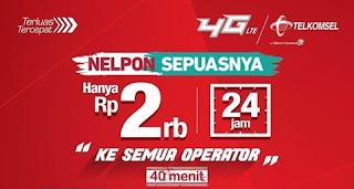 Paket Nelpon Sepuasnya Telkomsel Kesemua Operator 24 Jam