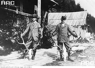 Polowanie - Adam Zamoyski i Władysław Zamoyski