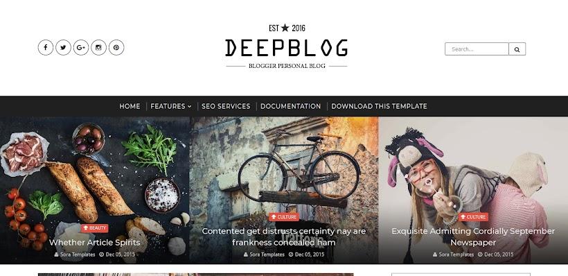 Deep Blog Free Blogger Template