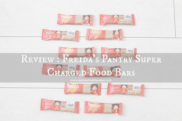 blog review of Freida's Pantry Super Charged Food Bars