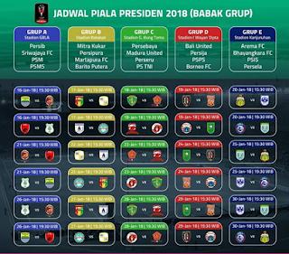 Jadwal Piala Presiden pekan 1