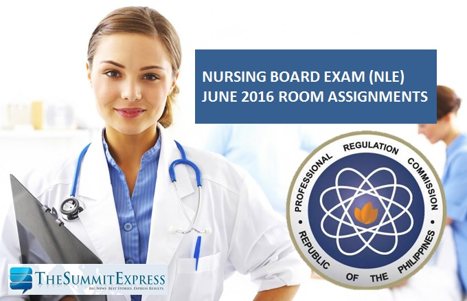 Room Assignment for June 2016 NLE nursing board exam