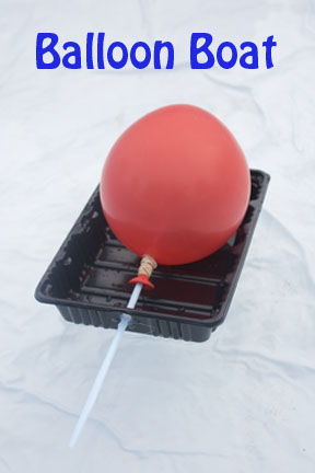 Balloon Boats are a great introduction to air power