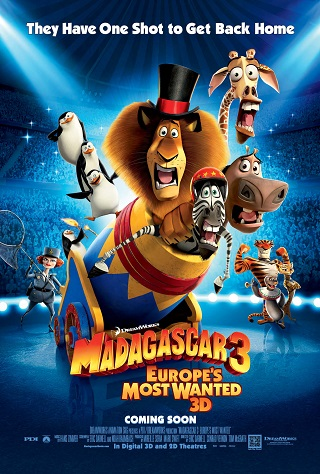 Madagascar 3 Europe's Most Wanted 2012 Dual Audio Hindi 700MB BluRay 720p