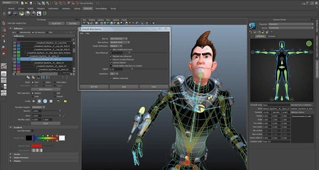 AutoDesk Maya software
