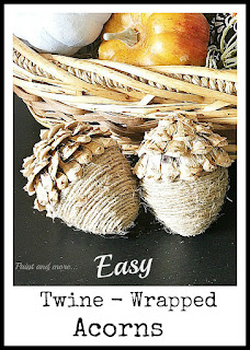 Vintage, Paint and more... easy twine wrapped acorns