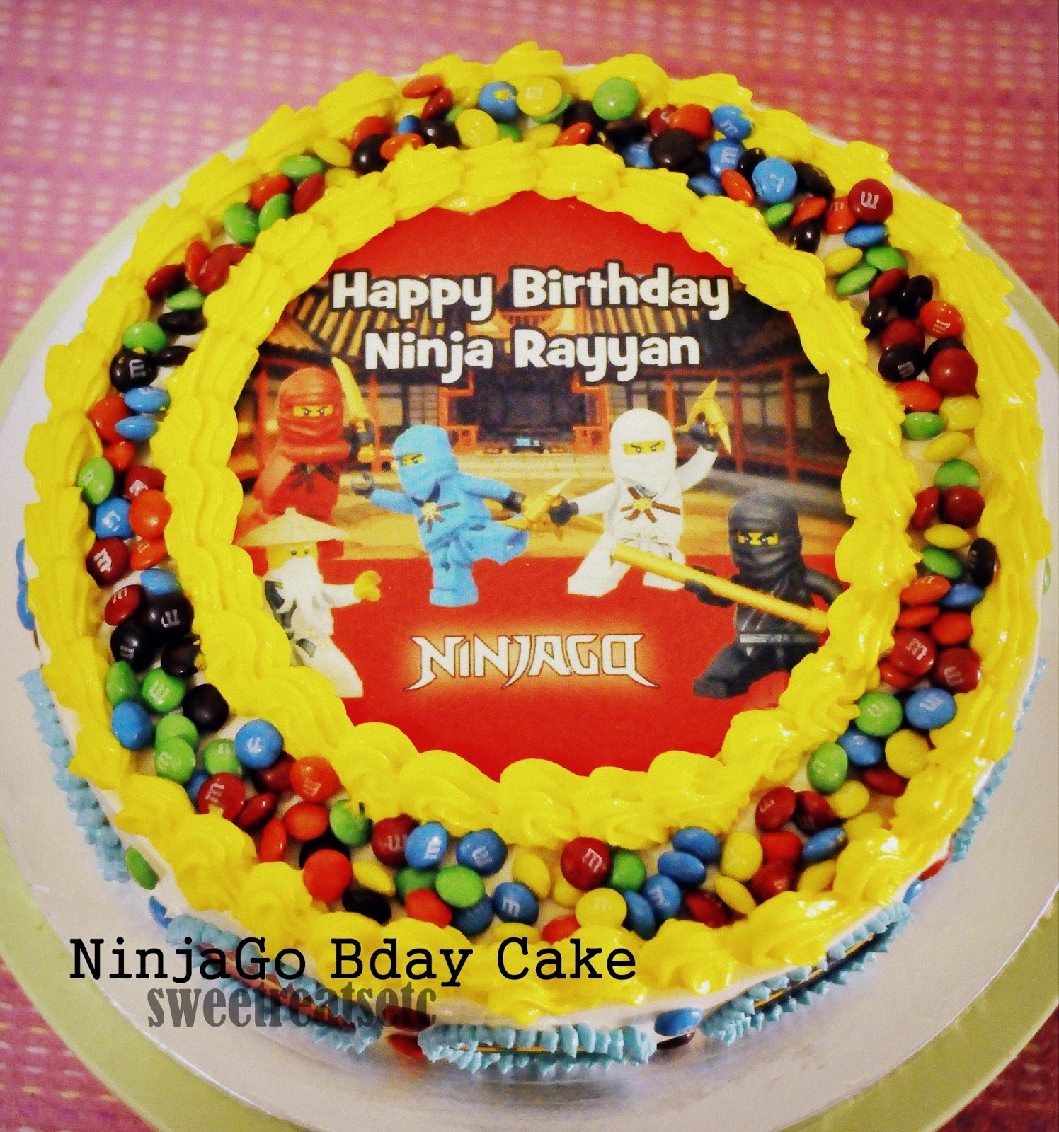 Sweetreats Etcetera: NinjaGo Theme Birthday Cake