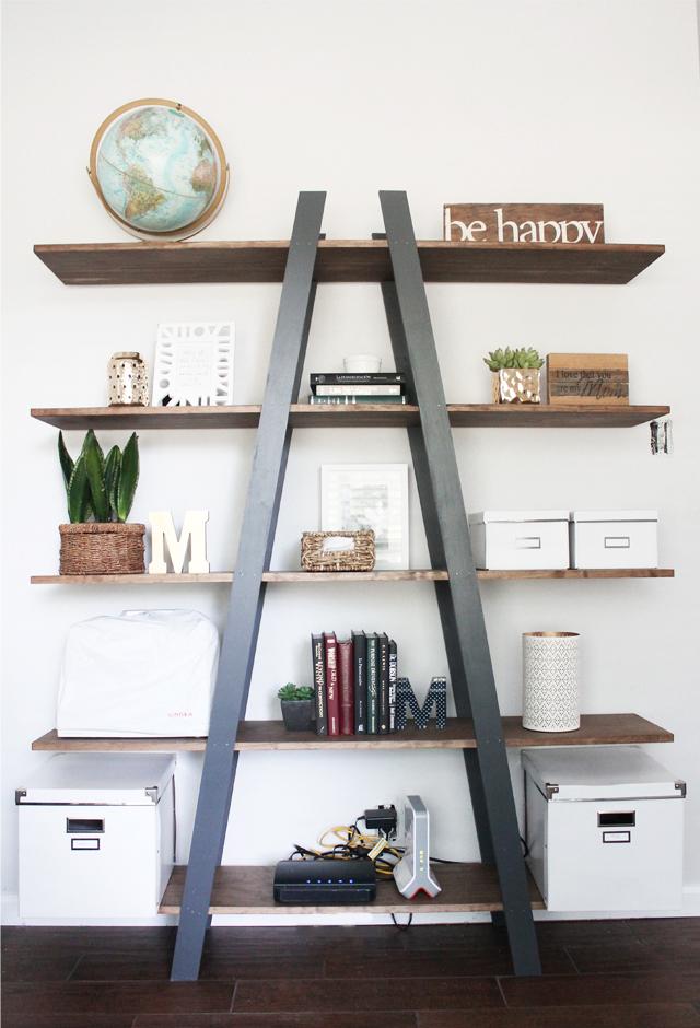 Cinsarah Diy West Elm Inspired Ladder Bookshelf