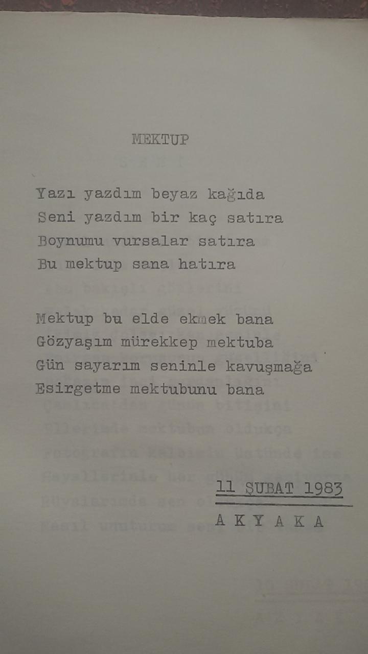 Asker Şiirleri - Mektup