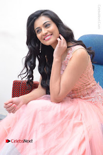 Actress Neha Hinge Stills in Pink Long Dress at Srivalli Teaser Launch  0107.JPG