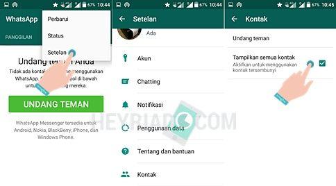 Kontak Whatsapp Tidak Muncul