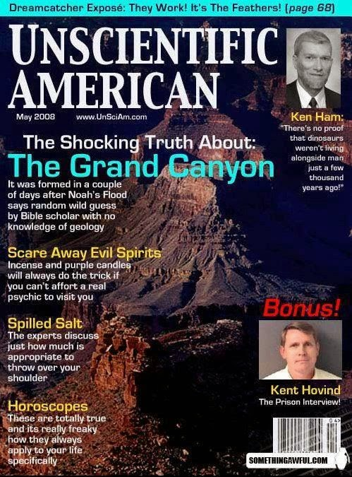 Funny Unscientific American Spoof Magazine Joke Picture