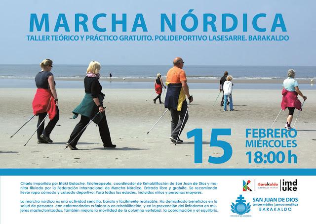 Cartel del taller de marcha nórdica