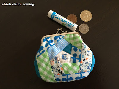 Making Patchwork *Gamaguchi* Wallet or Metal Frame Coin Purse ♥ パッチワークのがま口財布を作りました♥