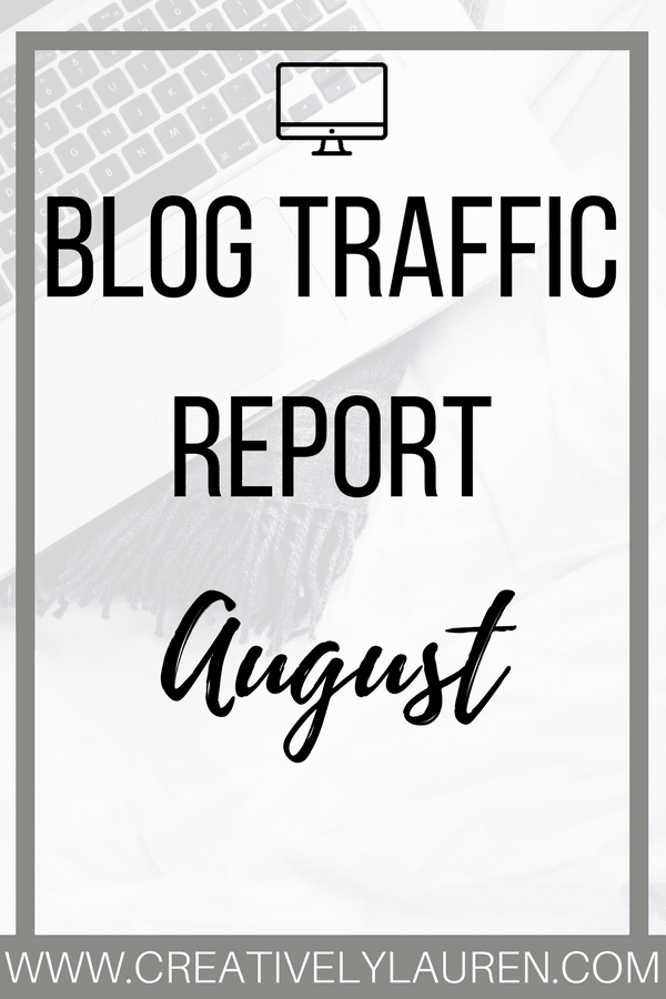 August 2017 Blog Traffic Report