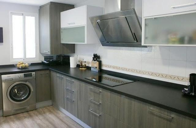 Una reforma muy habitual unir la cocina y el lavadero for Mobiliario lavadero