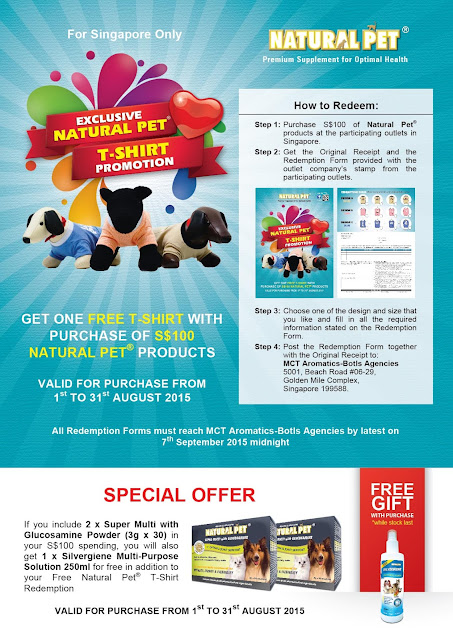 EXCLUSIVE NATURAL PET® T-SHIRT PROMOTION (SINGAPORE ONLY)