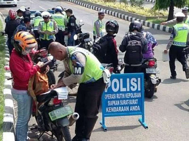 Awas Kena Tilang..!! Mulai 1 Agustus Razia Kendaraan Serentak se Indonesia