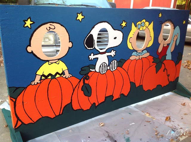 LydMc Painting For Peanuts A Harvest Festival Cut Out Board