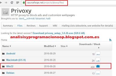 Instalar Privoxy en Windows 2008