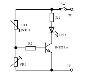 الدائرة الإلكترونية لمراقبة درجة الحرارة