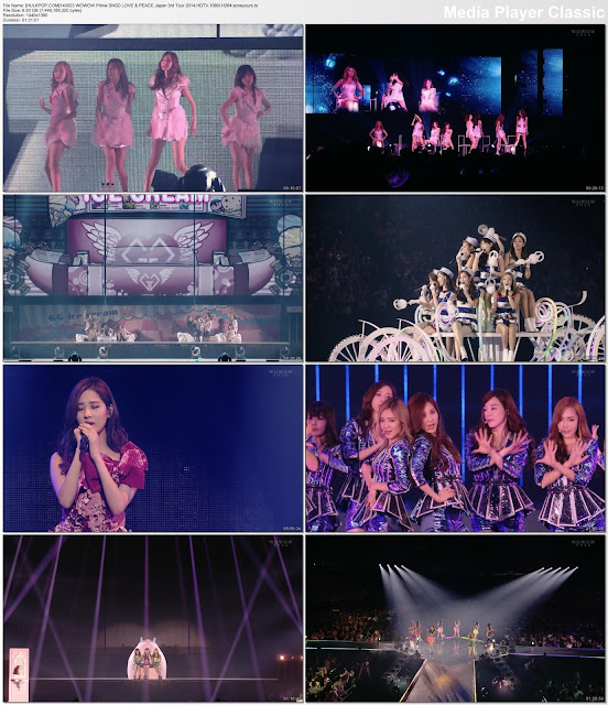 [Show] 140923 WOWOW Prime SNSD LOVE & PEACE Japan 3rd Tour 2014