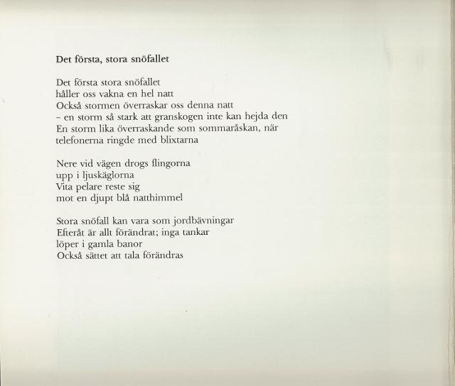1 år tillsammans dikt NYDAHLS OCCIDENT: Snön kom äntligen till Skåne 1 år tillsammans dikt