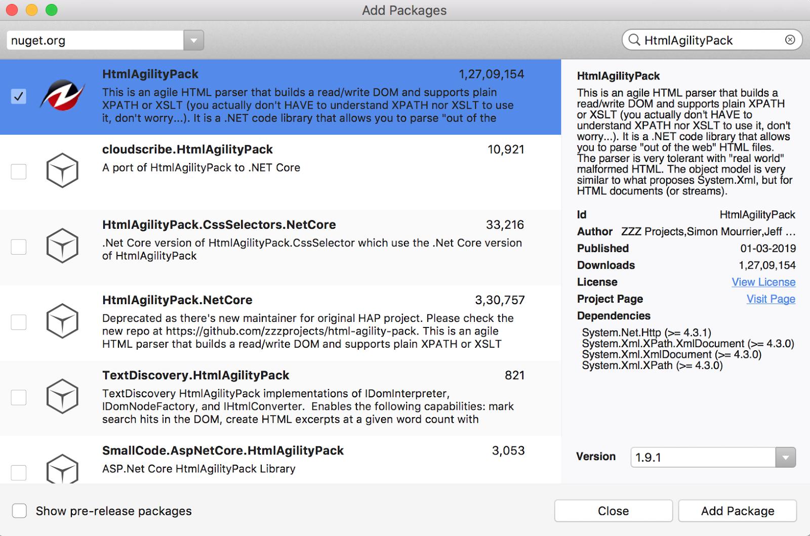 HtmlAgilityPack: Html parsing in Xamarin Forms (C# - Xaml