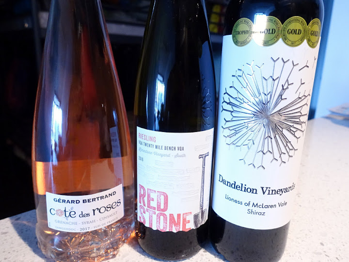 Wine Line-up for Aug. 5 Birthday Party